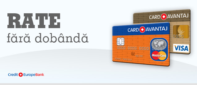 Credit europe bank plata rate online