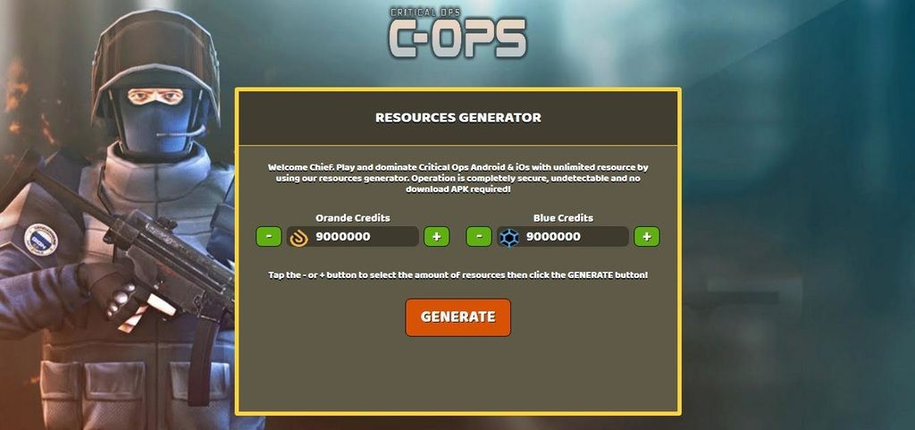 Critical ops free credits online