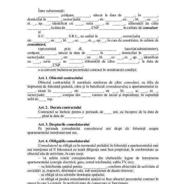 Contractul de împrumut nr 26 din 19.11.2013