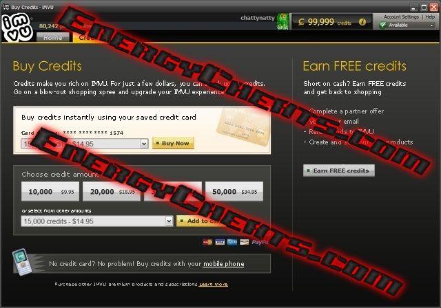 Imvu online credits hack
