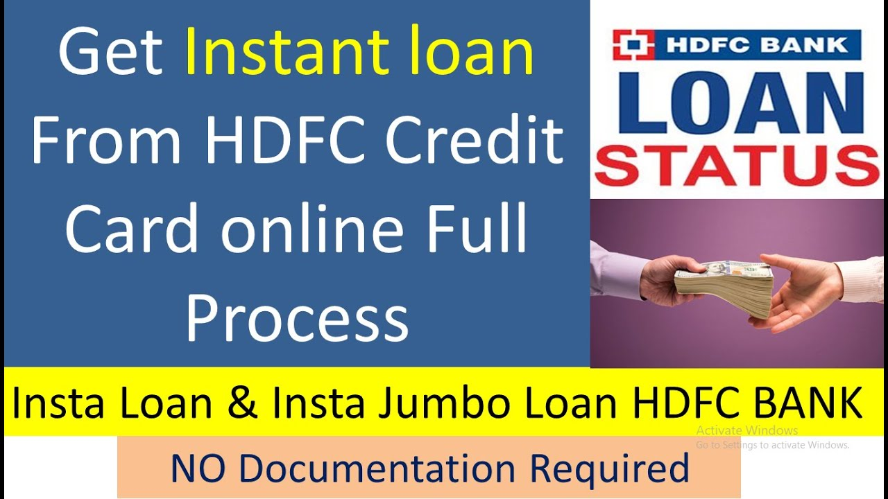 Online credit card instant use