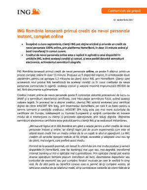 Credit nevoi personale ing online