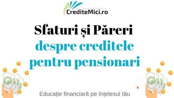 Credite online pentru pensionari exclus credius