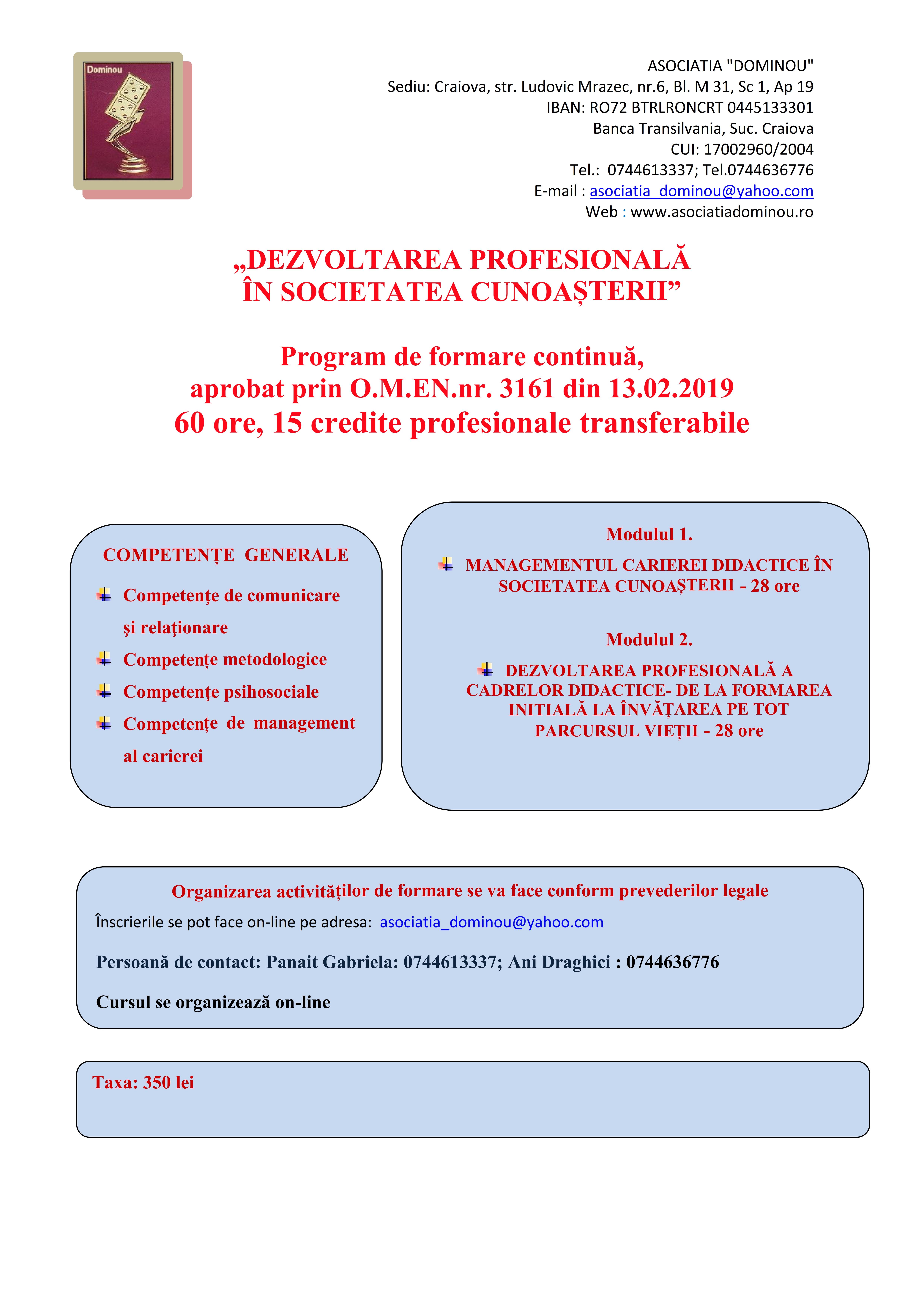Cursuri management online cu credite