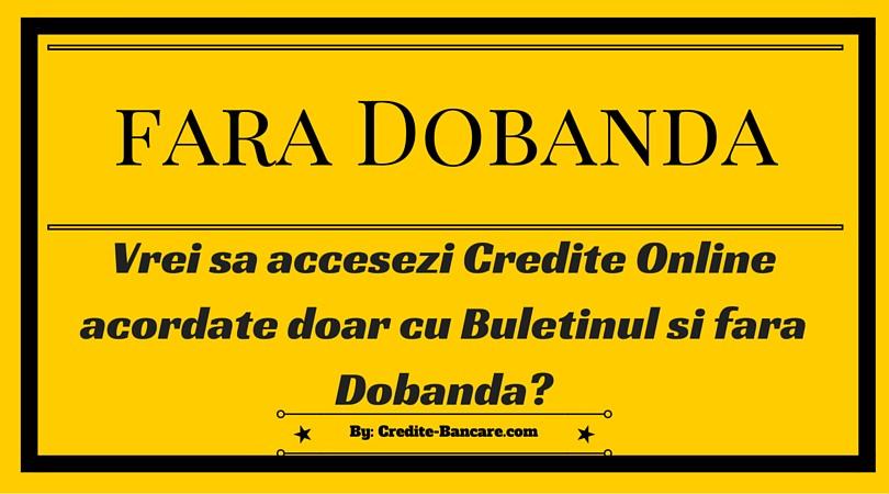 Interogare biroul de credit online