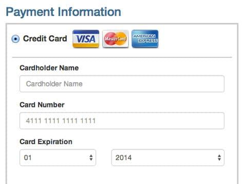 Online card credit
