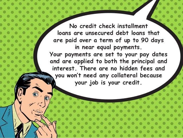 Online installment loans no credit check